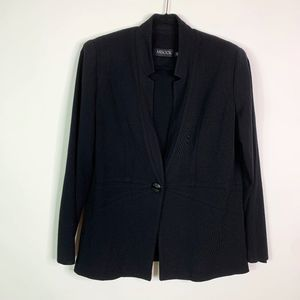 Misook Blazer Jacket Women's Size OX Black Knit Ac
